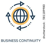 business continuity vector icon  | Shutterstock .eps vector #581189980