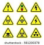 Vector Warning  Signal Symbol...