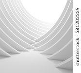3d illustration of white column ...   Shutterstock . vector #581202229