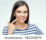 teenager face portrait with... | Shutterstock . vector #581203870