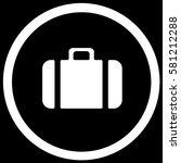 baggage sign black. vector. | Shutterstock .eps vector #581212288