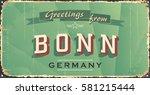 vintage tin sign. bonn city...   Shutterstock .eps vector #581215444