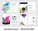 memphis geometric background... | Shutterstock .eps vector #581232580
