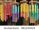 Wind chimes color - stock photo
