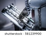 robotic arm production lines | Shutterstock . vector #581239900