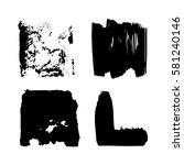 set of black paint  ink  grunge ... | Shutterstock .eps vector #581240146