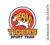 tiger logo in sport theme | Shutterstock .eps vector #581241874