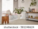 room with minimalistic design... | Shutterstock . vector #581248624