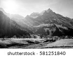 karwendel mountains in austria  ... | Shutterstock . vector #581251840