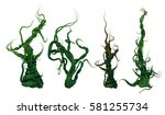 3d render of a set of plants of ... | Shutterstock . vector #581255734