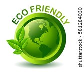 green eco friendly label | Shutterstock . vector #581284030