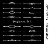 calligraphic page dividers.... | Shutterstock .eps vector #581287630
