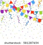 festive flags garlands and... | Shutterstock .eps vector #581287654