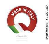 made in italy flag green color... | Shutterstock .eps vector #581292364