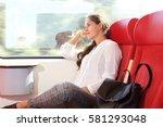 side portrait of beautiful... | Shutterstock . vector #581293048