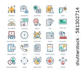 Finance and Banking Vector Icons  | Shutterstock vector #581302714