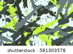 seamless texture of dynamic... | Shutterstock .eps vector #581303578