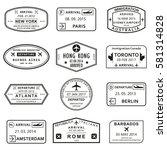 custom and travel passport... | Shutterstock .eps vector #581314828