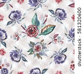 floral seamless pattern with... | Shutterstock . vector #581320600