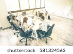 group of young people employee... | Shutterstock . vector #581324563