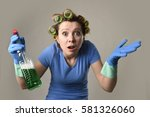 young overworked and frustrated ...   Shutterstock . vector #581326060