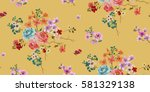 seamless floral pattern in... | Shutterstock .eps vector #581329138