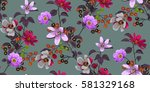 seamless floral pattern in... | Shutterstock .eps vector #581329168