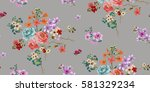 seamless floral pattern in... | Shutterstock .eps vector #581329234