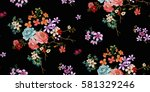 Stock vector seamless floral pattern in vector 581329246