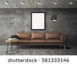 3d rendering of sofa with frames | Shutterstock . vector #581333146