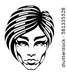 woman's face | Shutterstock .eps vector #581335528