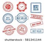 set of various best seller... | Shutterstock .eps vector #581341144