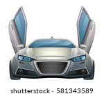 car front view  | Shutterstock .eps vector #581343589
