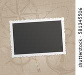 retro photo frame isolated on... | Shutterstock .eps vector #581345506