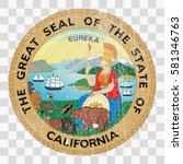 state seal of the usa state of... | Shutterstock .eps vector #581346763