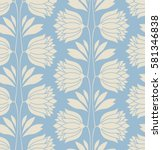 seamless floral vintage pattern | Shutterstock .eps vector #581346838