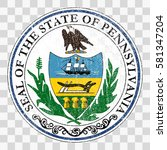state seal of the usa state of...   Shutterstock .eps vector #581347204