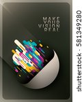 advertising poster design  with ... | Shutterstock .eps vector #581349280
