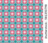seamless polka dot pattern with ... | Shutterstock .eps vector #581350798