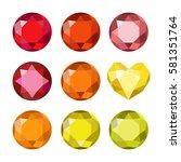 gems isolated on white... | Shutterstock .eps vector #581351764