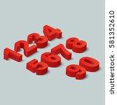 numbers set. vector... | Shutterstock .eps vector #581352610