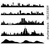 city skyline cityscape raster | Shutterstock . vector #58135309