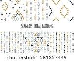 set of modern seamless hand... | Shutterstock .eps vector #581357449