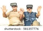 senior mature couple having fun ... | Shutterstock . vector #581357776