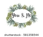 save the date cards  wedding... | Shutterstock . vector #581358544