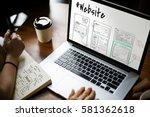 website development layout... | Shutterstock . vector #581362618