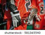 lacrosse themed photo  american ... | Shutterstock . vector #581365540