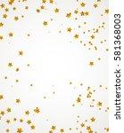 vector chaotic gold foil stars... | Shutterstock .eps vector #581368003