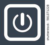 power icon  flat design style