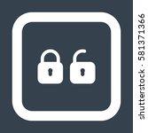 lock icon  flat design style